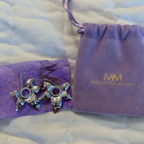 Melinda Maria designer silver earrings